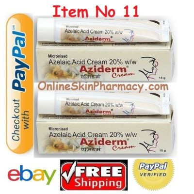 Aziderm Azelaic Acid Cream Buy Online Paypal Payment